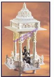 White Hand Carved Marble Temple, For Worship, Size: 4 Feet