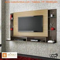 Bosky Furniture Brown Bedroom LCD TV Unit