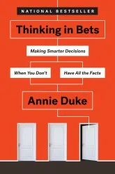 English Orange Thinking in Bets By Annie Duke(Free Worldwide Shipping), Packaging Size: 288 Pages