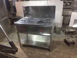 Stainless Steel 2 Burner Gas Range With Flashback
