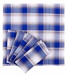 AJS Living Dinning Napkins Pure Cotton Table Napkin Cloth For Dinner, Blue, (set Of 6)