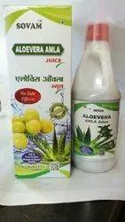 Sovam Aloe Vera Amla Juice, Packaging Type: Bottle, Packaging Size: 500-1000 Ml