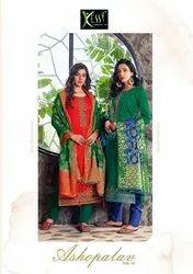 Kessi Ashopalav Vol 18 Jam Silk With Embroidery Work Dress Material Catalog
