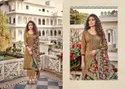 Unstitched Ladies Cotton Embroidered Straight Salwar Suit
