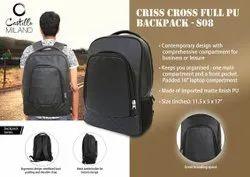 S08  Criss Cross Full Pu Backpack