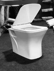 Closed Front White Floor Mounted Toilet Seats, For Bathroom Fitting, Size/Dimension: 670*360*740mm