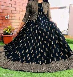 Party Wear Regular Womens Designer Kurties, Wash Care: Dry clean