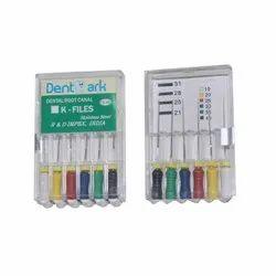 Dentmark Dental K- Files Stainless Steel, For Endodontic, Pack 6 Pcs