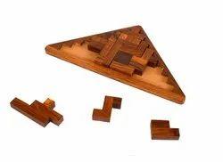 Natural DNU Wooden 3D Puzzles Pedagogical Board Brain Teaser Games