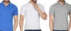 Mens Collar Neck Cotton T Shirt, Size: Large, Quantity Per Pack: 1