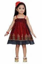 Girl Red Kids Party Wear Dress