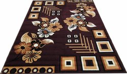 Acrylic Brown Printed Handloom Carpets