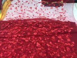 Zari& Jaal Embroidery Net Fabric 44 Width, Multicolour