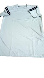 Printed Polyester White Sports T Shirt, Size: Large