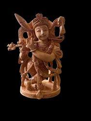 Krishna Ji Wooden Murti 5 Inch