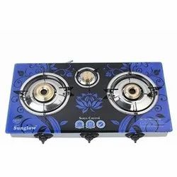 Lpg Surya Crystal 2 Burner Automatic Gas Stove, For Kitchen