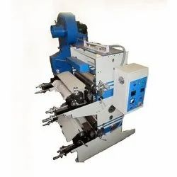 Hytech Mild Steel Two Color Mini Flexo Printing Machine, For Plastic Film, Number Of Colors: Multi