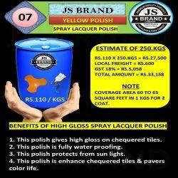 250 Kg Yellow Spray Lacquer Polish
