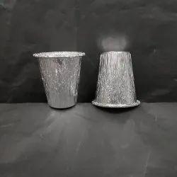 Aluminum Silver 250 Ml Aluminium Glass, For Hotel