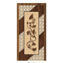 Decorative Solid Wood Laminated Door