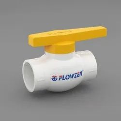 UPVC Ball Valve With ABS Yellow Handle