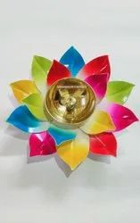 Brass Multicolor Akhand Diya for Diwali and Home Decoration