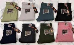 Solid Colors Regular Fit Mens Cotton Pants