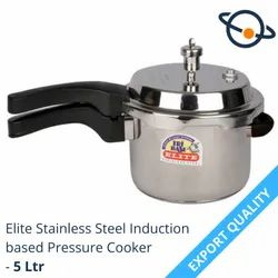 Elite Stainless Steel Induction Based Pressure Cooker - 5 Ltr, For Home