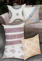Block Printed & Embroidered Cushion Covers Made in 100% Cotton