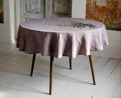 Linen Round Tablecloth In Various Colors & Shapes Round, Square, Rectangular Table Linens