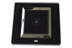 Capacitive Black Roma Modular Touch Switch, 5A