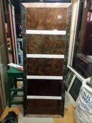 Standard Brown PVC Hinged Door, For Bathroom, Size/Dimension: 2'6 X7' Feet