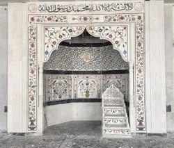 White Marble Mehrab, For Masjid, Size: 8 Feet
