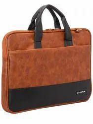 COSMUS Pavilion PU Leather Lightweight Laptop Messenger Bag, Capacity: 5L