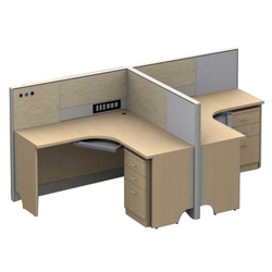 Wooden Modular Office Workstation With Pedestal.