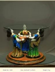 Gift Guys Round Polyresin Decoration Table, Size: 21 X 22 X 19 Inch
