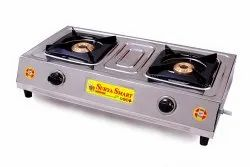 Double Burner Stainless Steel Gas Stove, Model Name/Number: Mini