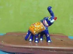 Aluminium Meenakari Elephant Statue