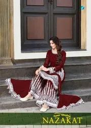 Your Choice Nazakat Georgette Sharara Style Salwar Suit Catalog