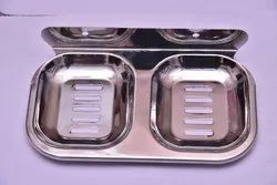 TESTA,MAESTROO Silver Stainless Steel Soap Dish, Size: 80GM