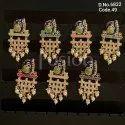 Fusion Arts Meenakari Handmade Peacock Earrings