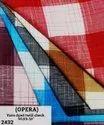 Opera yarn dyed twill check shirting fabric