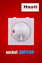 Kishan White Socket Parcos Regurator, For Ceiling Fan