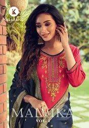 Kalarang Fashion Malvika Vol 4 Jam Silk Cotton With Embroidery Dress Material Catalog