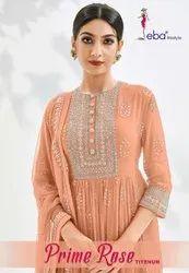 Prime Rose Titenum Georgette Heavy Embroidery Designer Suit Catalog