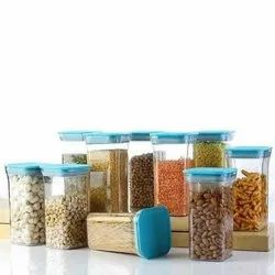 PLASTIC BLUE KITCHEN CONTAINERS SET, For Kichen, Packaging Type: Box