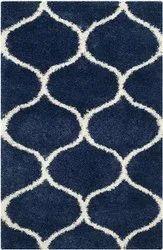 For Home Blue Shaggy Carpet