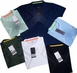Printed Mens Round Neck Cotton T Shirt