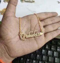 Party Wear Imitation Personalized Minimalist Name Pendant