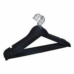 Black Wooden Ganpati Hangers Heavy Duty Velvet Hanger